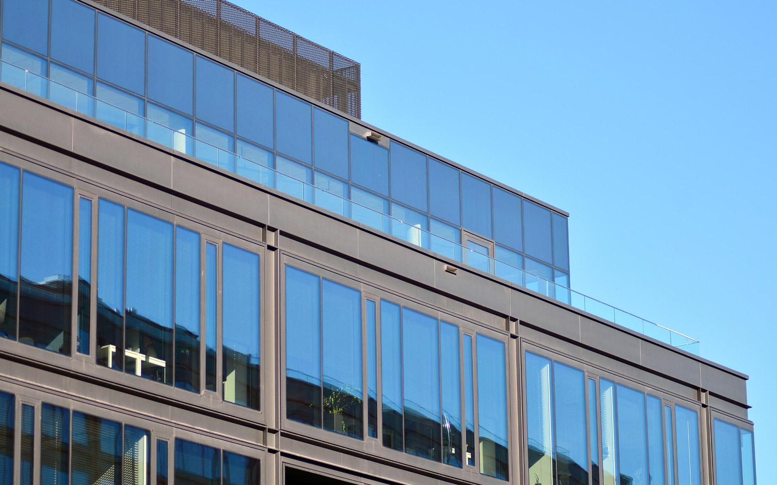 glass railings building