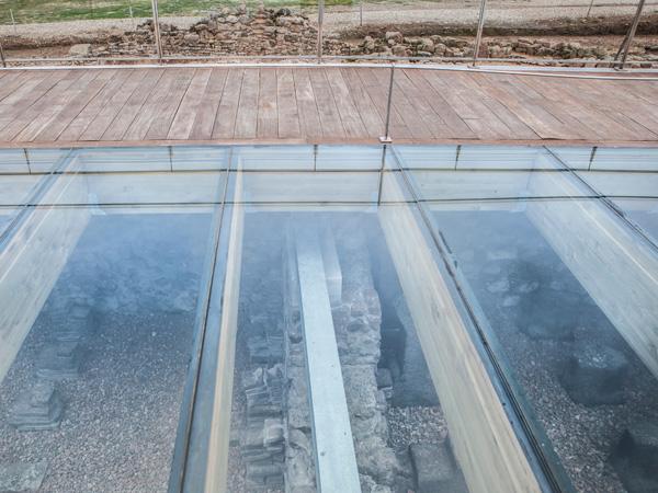 стъклен под