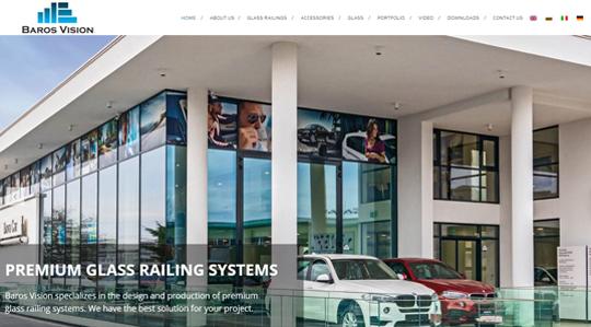 glass railings manufacturer baros vision